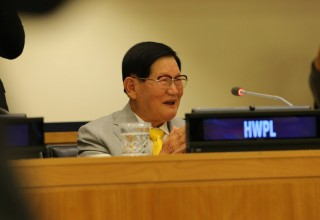 Chairman Man Hee Lee of HWPL Representing the Civil Society