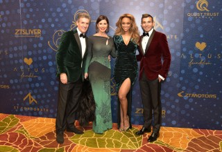 Nick and Dominique Florescu, Tyra Banks, and Taseer Badar
