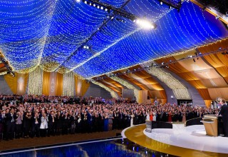Thousands of Scientologists rose to their feet time and again in celebration of the year's accomplishments in the name of the IAS.