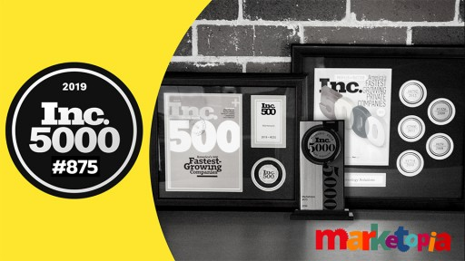 Marketopia Ranks No. 875 on the Inc. 5000 List