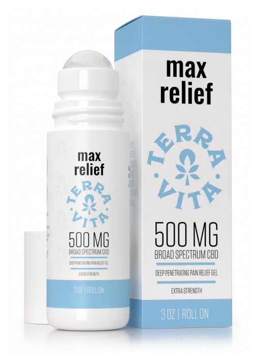 For Those Soon to Be Pain-Free: TerraVita Releases Its CBD-Enhanced Max Relief Gel Roll-On
