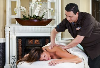 Massage therapy at Spa of the Rockies