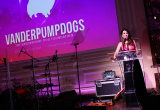 Lisa Vanderpump notes the successes of the Foundation to the 450 guests in attendance