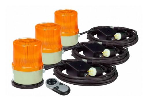 Larson Electronics Releases Remote Controlled LED Strobe Light Kit, 120-277V AC to 10-30V DC, 3 LEDs