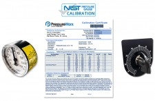 NIST Pressure Gauge Calibration Certificate