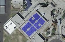 3D rendering of the high school solar array