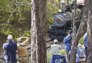 Photographers delight in steam engine photo ops at Texas State Railroad