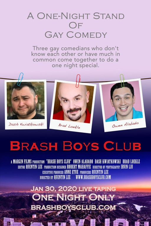 Margin Films Presents 'Brash Boys Club,' a One Night Stand of Gay Stand-Up Comedy