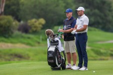 Charl Schwartzel tees up with the Clear Golf ball at the South African Open this week