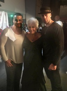 Kathy Baker with International Models Can Muhammed Karagoz and Gio Delavicci