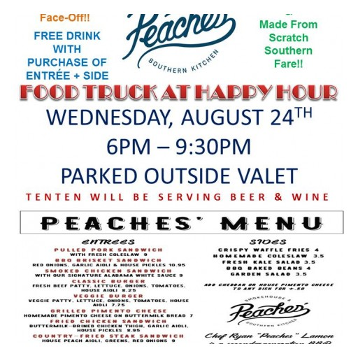 TENTEN Wilshire & Peaches Southern Kitchen Food Truck: BBQ Happy Hour