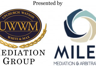 Upchurch Watson White & Max and Miles Mediation & Arbitration logos