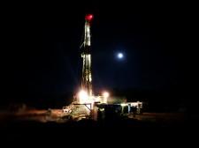 Julie #3 drilling at night