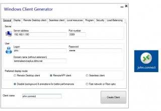 New TSplus Client Generator process - Lighter and fully compatible with Antivirus