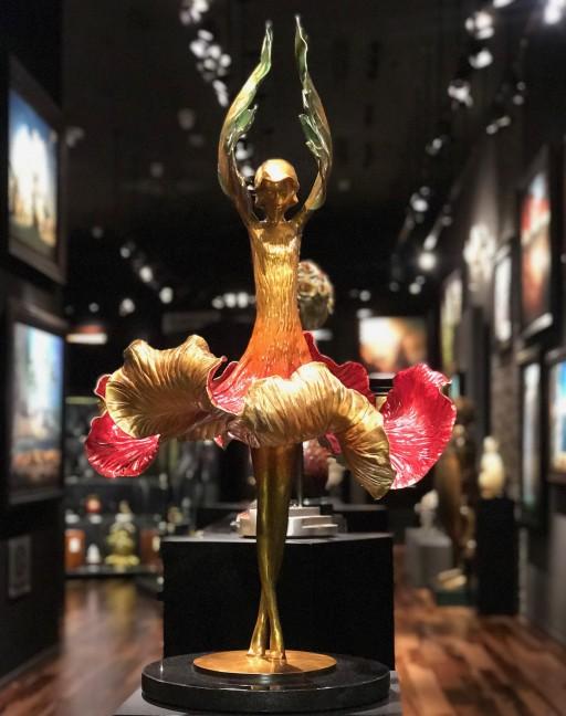 Vladimir Kush Presents His New Release 'Hibiscus Dancer' Bronze Sculpture