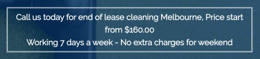 CleanToShine Offers Thorough End of Lease Cleaning Melbourne Service From $160.00
