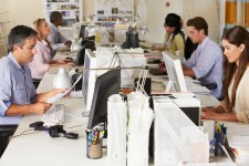 Office Workers Isolated by Technology