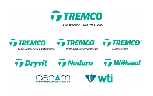 New Tremco Construction Products Group Unites Leading Brands, Offers Industry's First Single-Source Building Enclosure