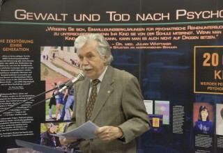 Dr. Karlheinz Demel revealed the crimes of Austria's Nazi psychiatrists in his keynote address at the opening of the Psychiatry: An Industry of Death exhibit in Vienna.