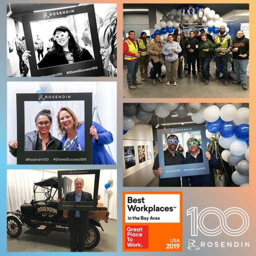 Rosendin Named One of the 2019 Best Workplaces in the Bay Area by Great Place to Work® and FORTUNE