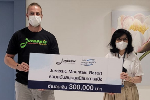 Jurassic Mountain Resort & Fishing Park Donates Over 3 Million Thai Baht for Charitable Causes Throughout Thailand