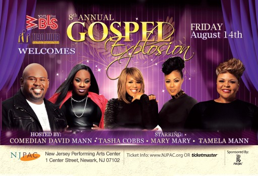 A Night of Anointing Spirits Was Presented At New Jersey Performing Arts Gospel Explosion 2015