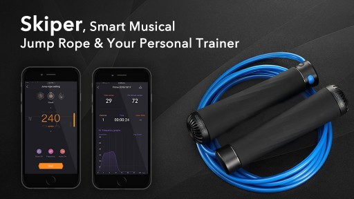 Geekery Announces a Kickstarter Campaign for Skiper - the First Smart Jump Rope With Music and Personal Training Features