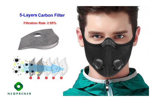 Are Cycling Masks With Carbon Filter Produced by Neoprener Effective Against the Coronavirus?