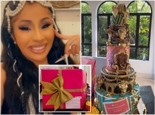 Cardi B showed off Bellesa sex toys, vibrators and extravagant five-tier birthday cake