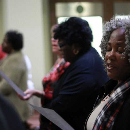 Two Congregations Come Together in Prayer and Song