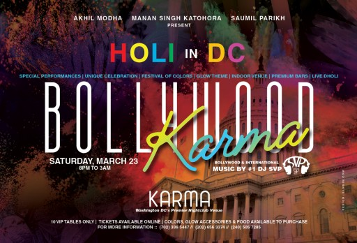 First-Ever Indoor HOLI Colors Event in Nation's Capital - Washington, D.C.
