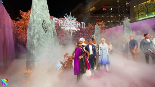 Frozen 2 Hollywood Premiere Features Low-lying Fog Special Effects