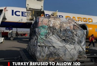 Turkey refused to allow 100 tons of humanitarian Aid to Armenia.