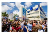 Atop a new Church of Scientology overlooking the Biscayne Bay, some 2,000 Scientologists and guests gather, Saturday, April 29, to celebrate their new home in the Magic City.