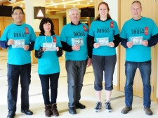 Volunteers from the Seattle chapter of the Foundation for a Drug-Free World at the Church of Scientology Seattle