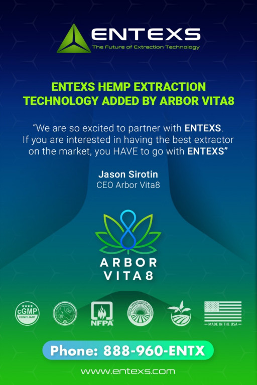 ENTEXS Hemp Extraction Technology Added by ArborVita8