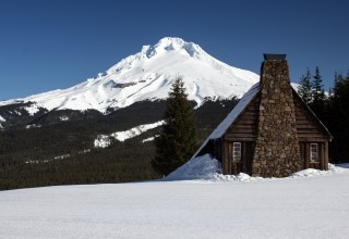 Historic Warming Hut at Mt. Hood Skibowl in Oregon