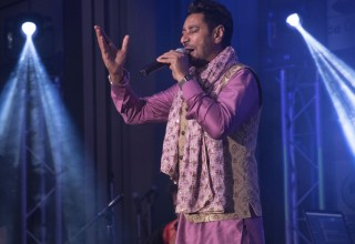 Bollywood Superstar Harbhajan Mann launched his Tin Rang World Tour from the stage of the Scientology Community Centre in South Dublin.