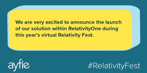 ayfie Announces Compatibility With RelativityOne at Relativity Fest