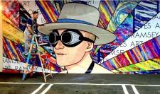 Ramsey in front of his Rareform X Lamar billboard