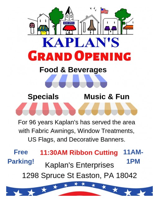 Kaplan's Enterprises Plans Grand Re-Opening Celebration