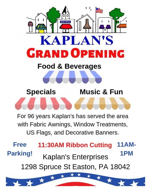 Kaplan's Enterprises Plans Grand Re-Opening Celebration