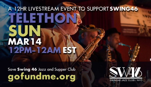 SWING46—Another Legendary Staple of Times Square Nightlife, is Raising GoFundMe Pandemic Money Through a 12-Hour March 14 YouTube Telethon