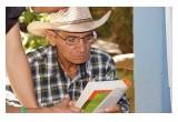 Reading books in Honduras