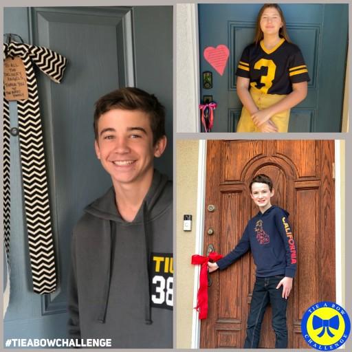 Jason Maybaum, Mackenzie Hancsicsak and Parker Bates Among Young Celebrities to Launch #TieABowChallenge