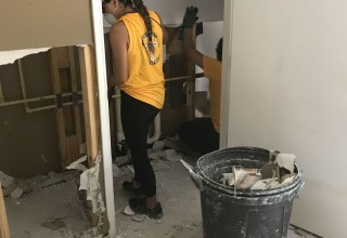 Scientology Volunteer Ministers helped Houston residents rebuild their hurricane-damaged homes.
