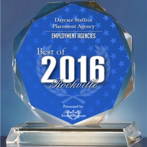 Daycare Staffers Placement Agency Receives 2016 Best of Rockville Award for Nanny and Daycare Placements!