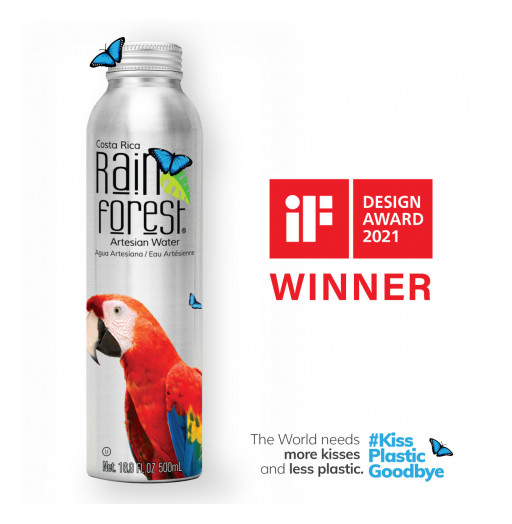 Design + Sustainability Excellence: RainForest Water Wins iF Design Award 2021 in Packaging Design