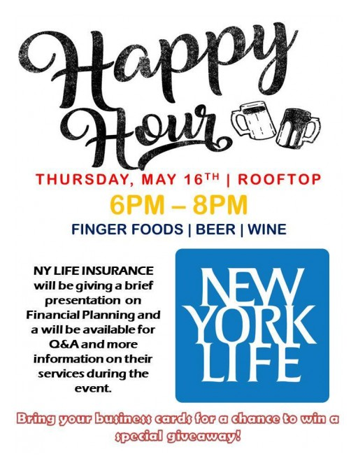 TenTen Wilshire is Hosting a Happy Hour Event Featuring a Financial Planning Presentation With New York Life Insurance
