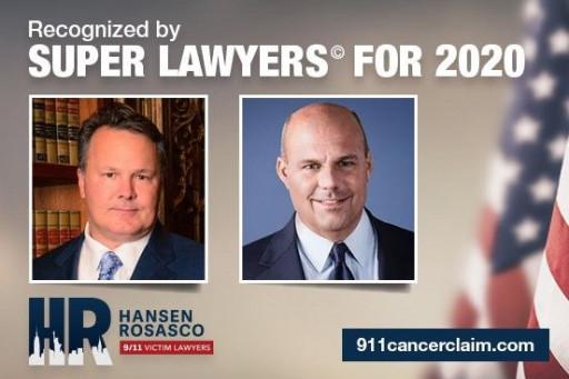 Hansen & Rosasco, LLP Attorneys Daniel J. Hansen and Troy G. Rosasco Named to Super Lawyers
